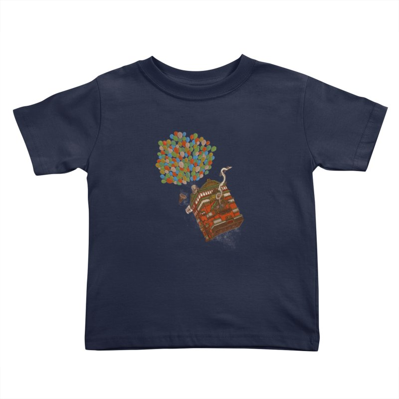 Up in the Spirited Sky Kids Toddler T-Shirt by xiaobaosg