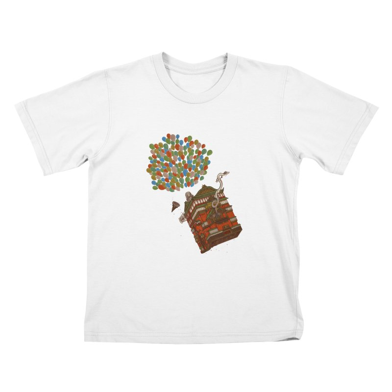 Up in the Spirited Sky Kids T-Shirt by xiaobaosg