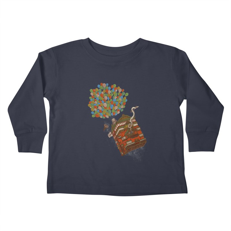 Up in the Spirited Sky Kids Toddler Longsleeve T-Shirt by xiaobaosg