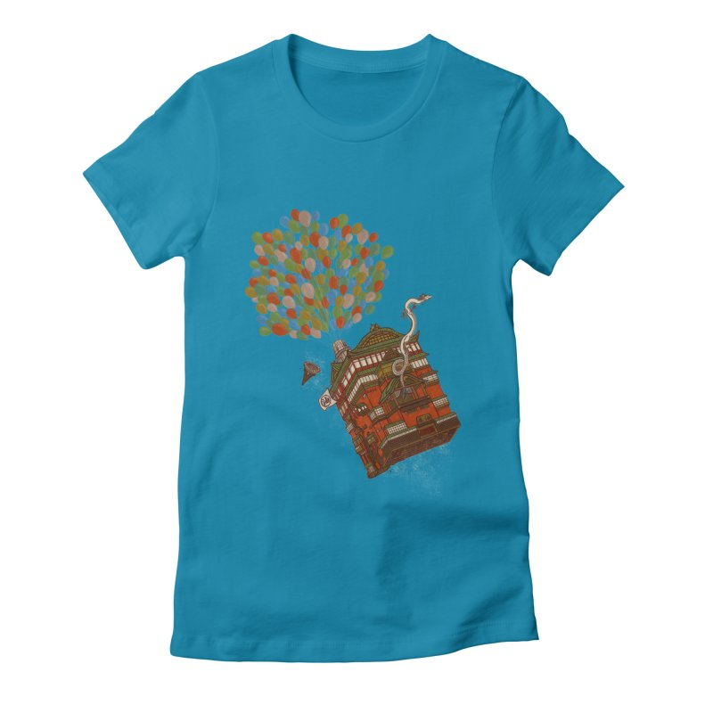 Up in the Spirited Sky Women's Fitted T-Shirt by xiaobaosg
