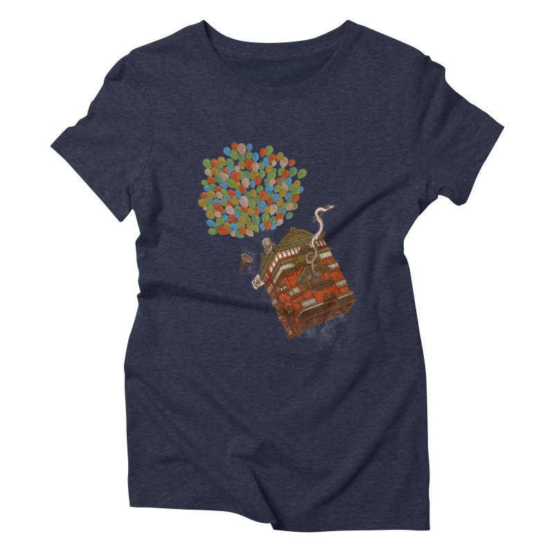 Up in the Spirited Sky Women's Triblend T-Shirt by xiaobaosg