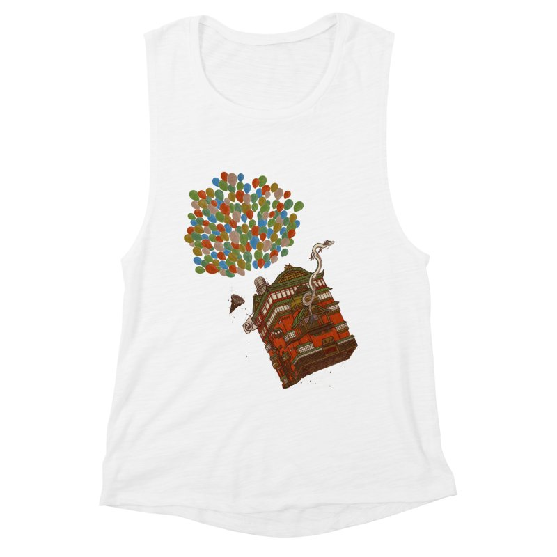 Up in the Spirited Sky Women's Muscle Tank by xiaobaosg