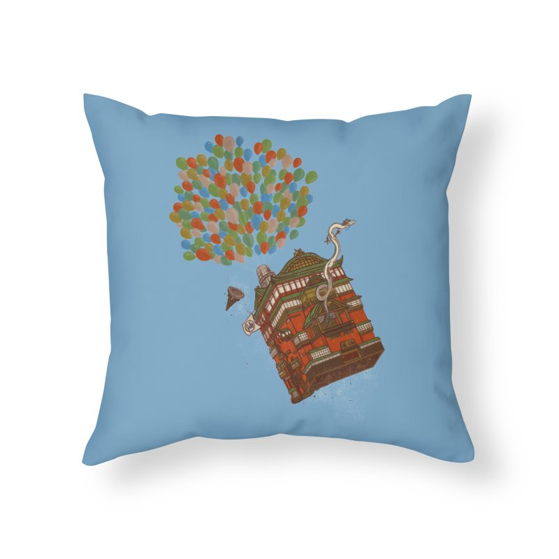 Up in the Spirited Sky Home Throw Pillow by xiaobaosg