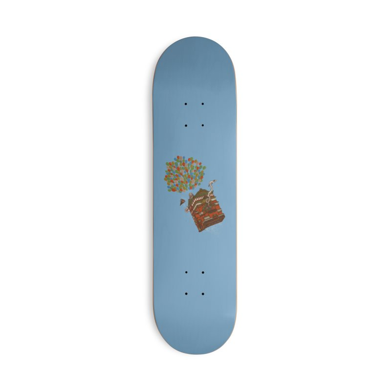 Up in the Spirited Sky Accessories Deck Only Skateboard by xiaobaosg