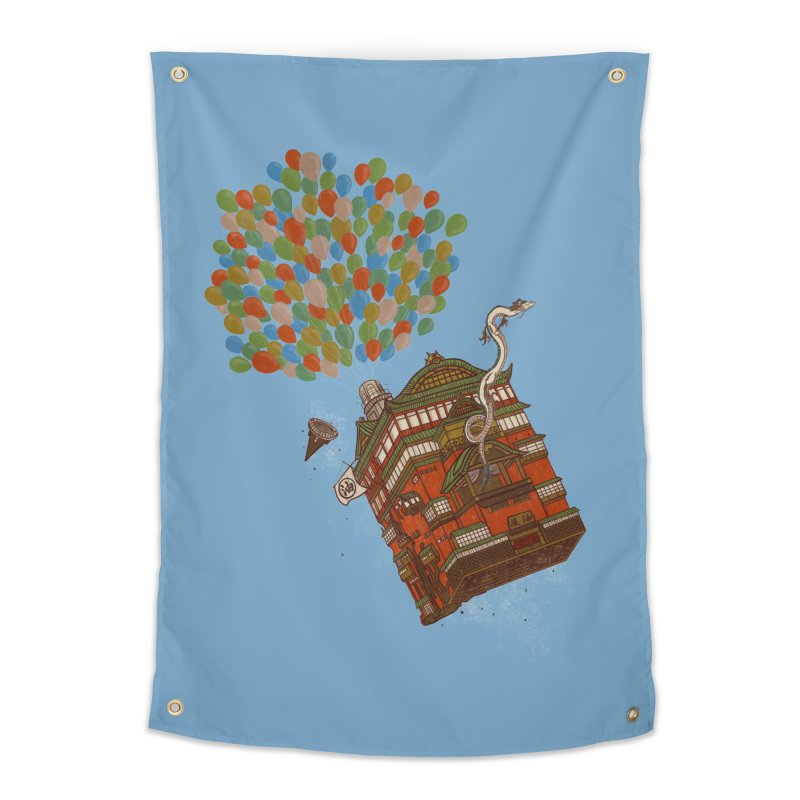Up in the Spirited Sky Home Tapestry by xiaobaosg
