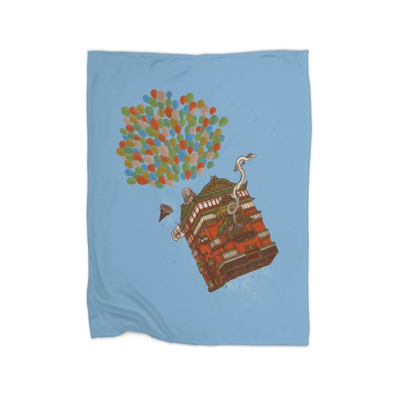 Up in the Spirited Sky Home Fleece Blanket Blanket by xiaobaosg