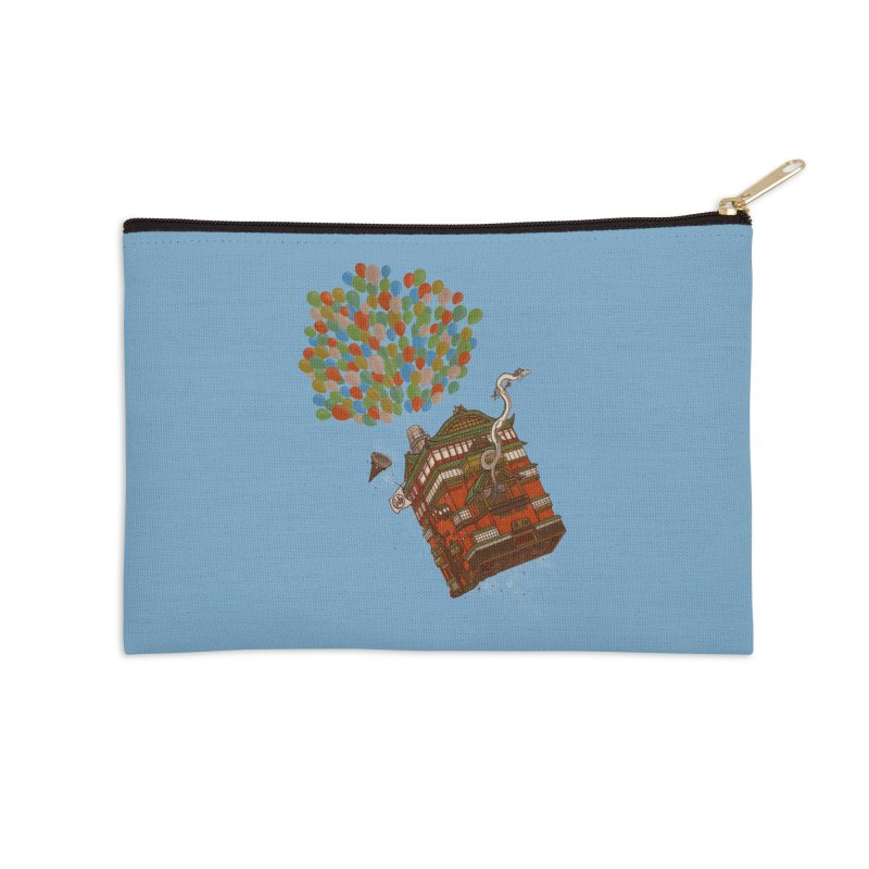 Up in the Spirited Sky Accessories Zip Pouch by xiaobaosg