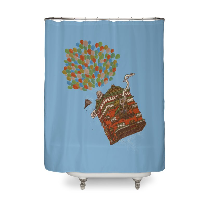 Up in the Spirited Sky Home Shower Curtain by xiaobaosg