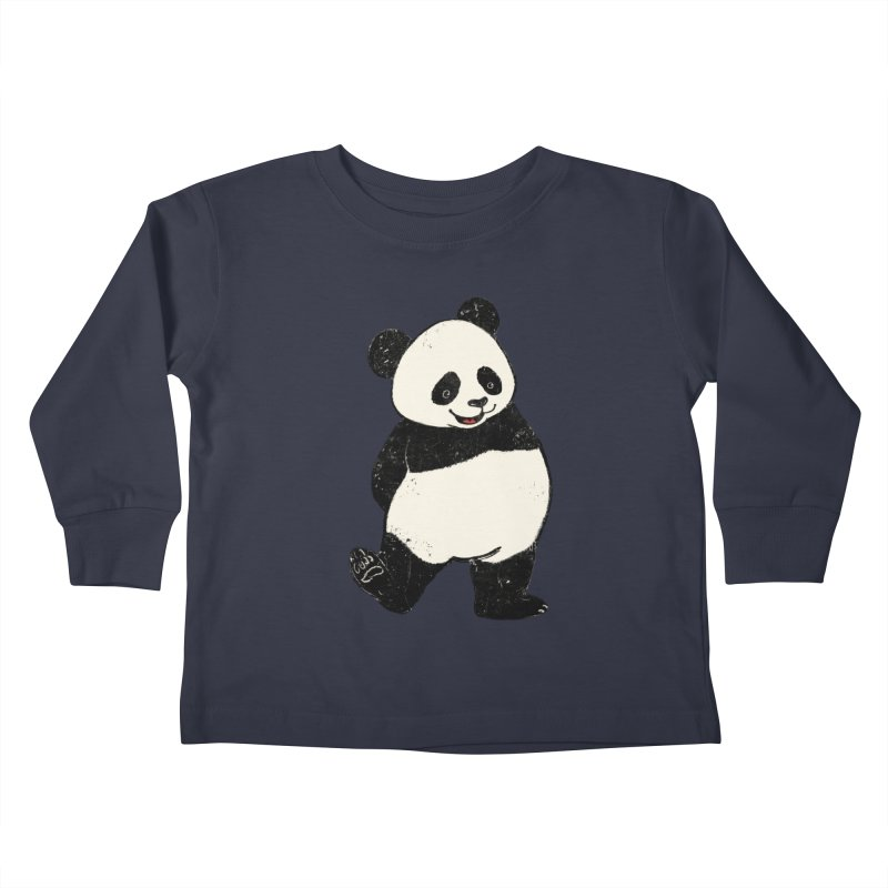 The Classic Pose Kids Toddler Longsleeve T-Shirt by xiaobaosg