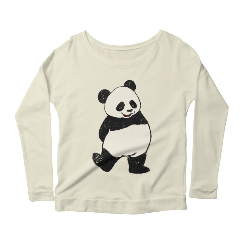 The Classic Pose Women's Scoop Neck Longsleeve T-Shirt by xiaobaosg