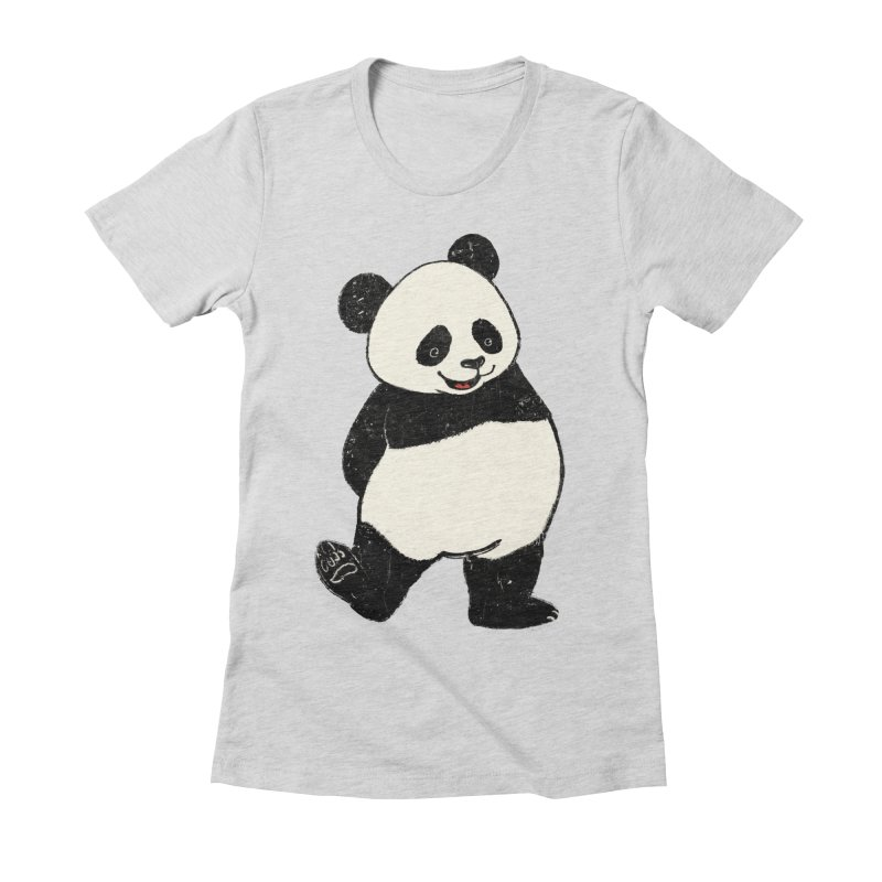 The Classic Pose Women's Fitted T-Shirt by xiaobaosg