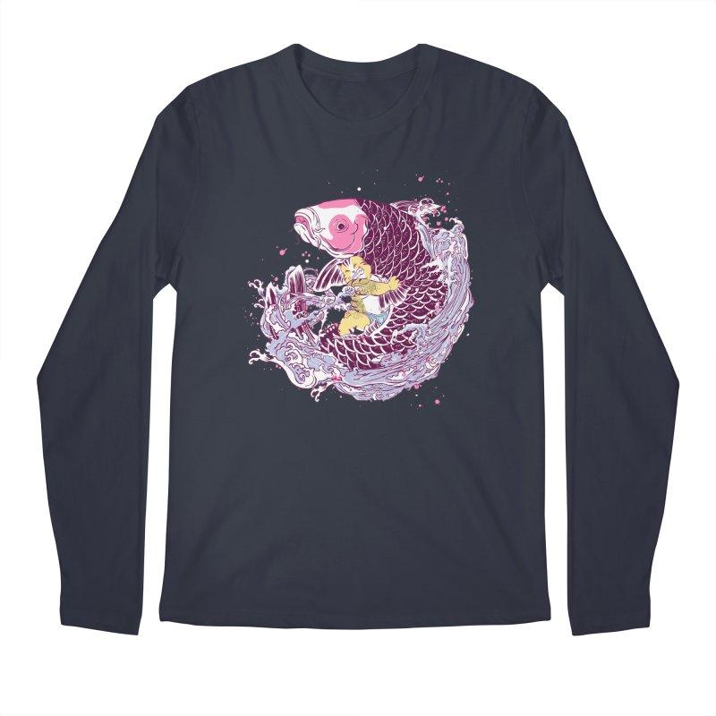 The Big Catch Men's Longsleeve T-Shirt by xiaobaosg