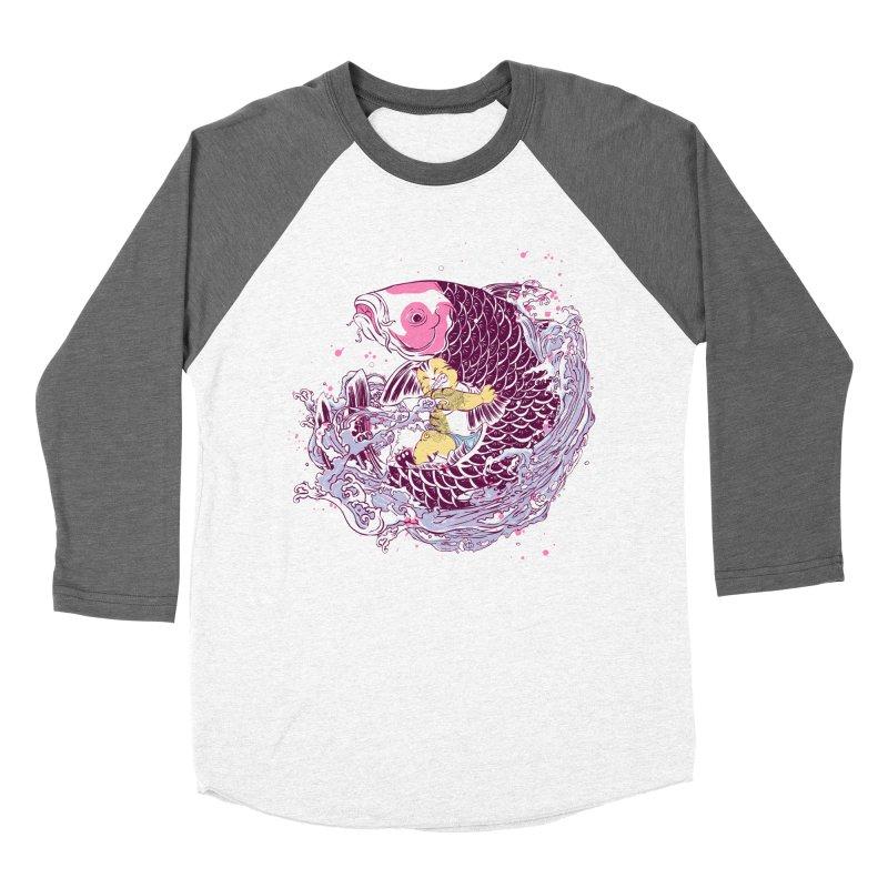 The Big Catch Women's Baseball Triblend T-Shirt by xiaobaosg