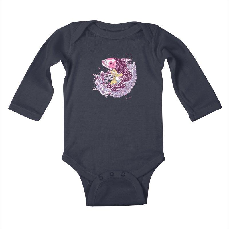 The Big Catch Kids Baby Longsleeve Bodysuit by xiaobaosg