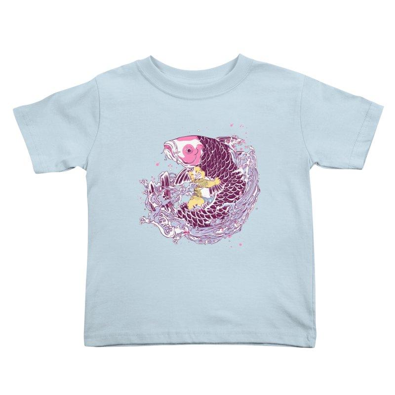 The Big Catch Kids Toddler T-Shirt by xiaobaosg