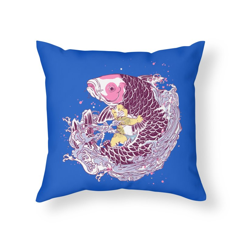 The Big Catch Home Throw Pillow by xiaobaosg