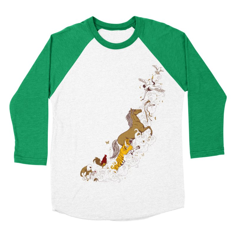 The Magic Paintbrush Men's Baseball Triblend T-Shirt by xiaobaosg