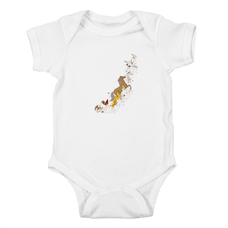 The Magic Paintbrush Kids Baby Bodysuit by xiaobaosg