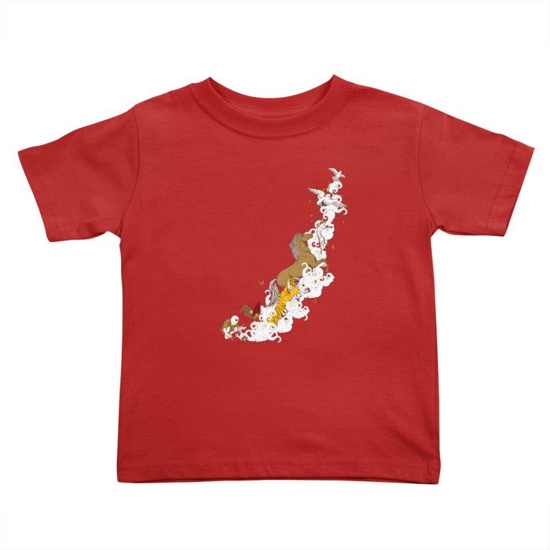 The Magic Paintbrush Kids Toddler T-Shirt by xiaobaosg