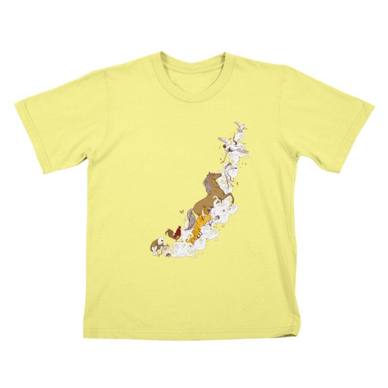 The Magic Paintbrush Kids T-shirt by xiaobaosg