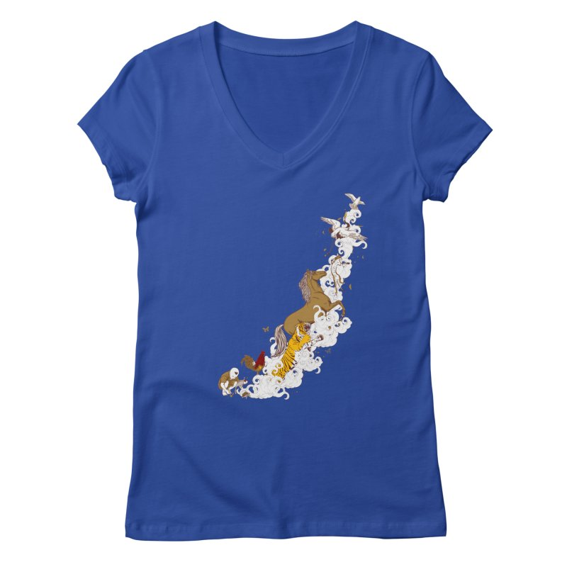 The Magic Paintbrush Women's V-Neck by xiaobaosg