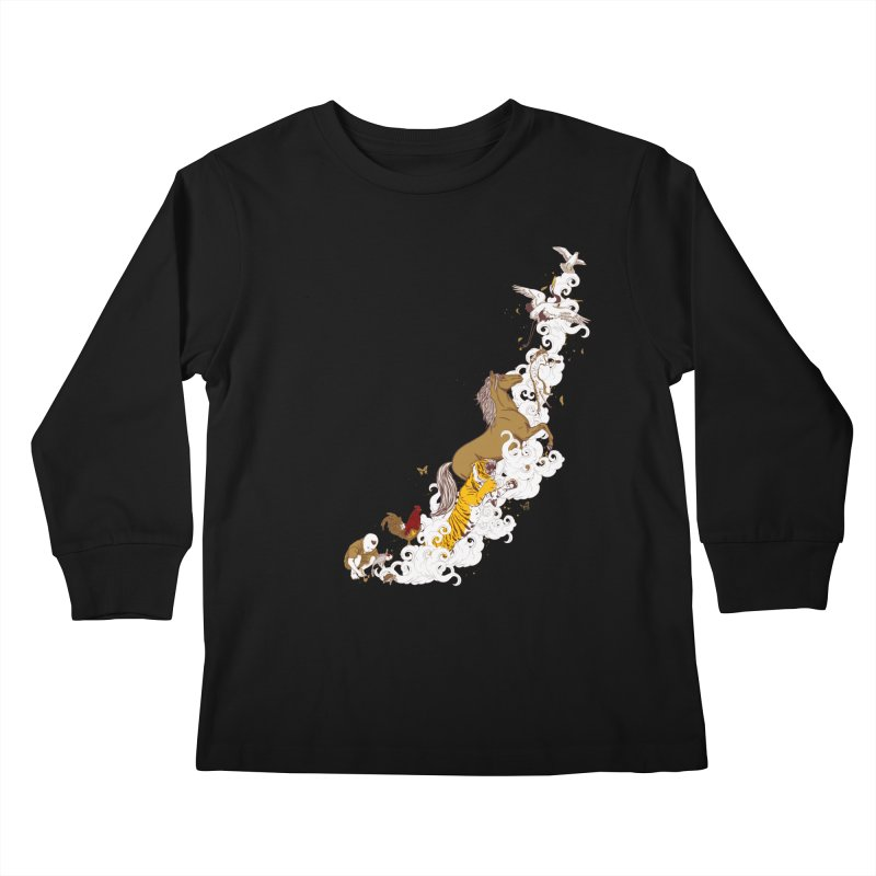 The Magic Paintbrush Kids Longsleeve T-Shirt by xiaobaosg