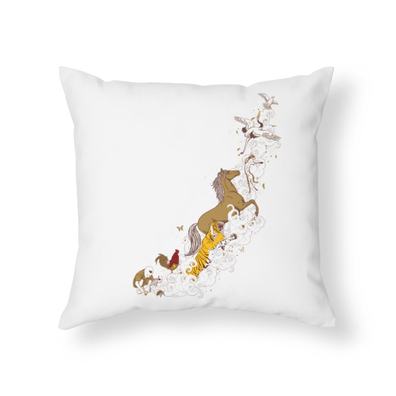 The Magic Paintbrush Home Throw Pillow by xiaobaosg