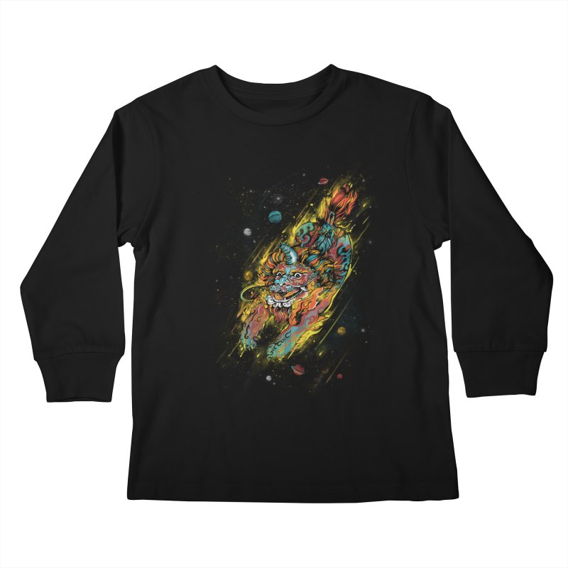 Monster of the Year Kids Longsleeve T-Shirt by xiaobaosg