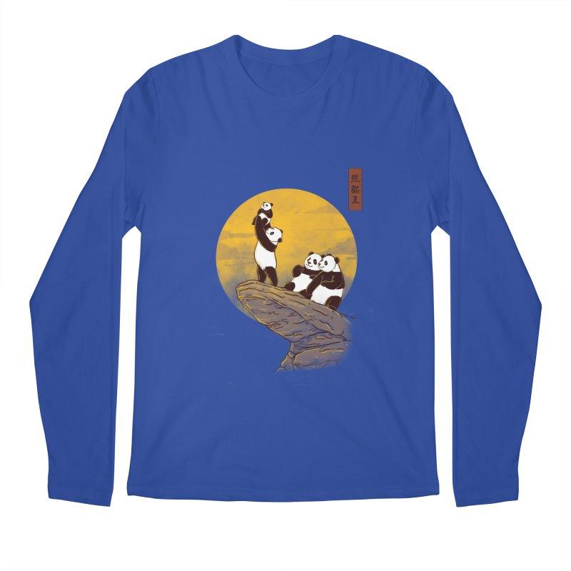 The Panda King Men's Longsleeve T-Shirt by xiaobaosg
