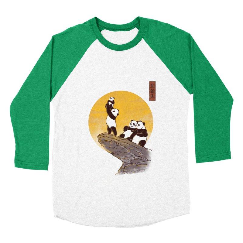 The Panda King Women's Baseball Triblend T-Shirt by xiaobaosg