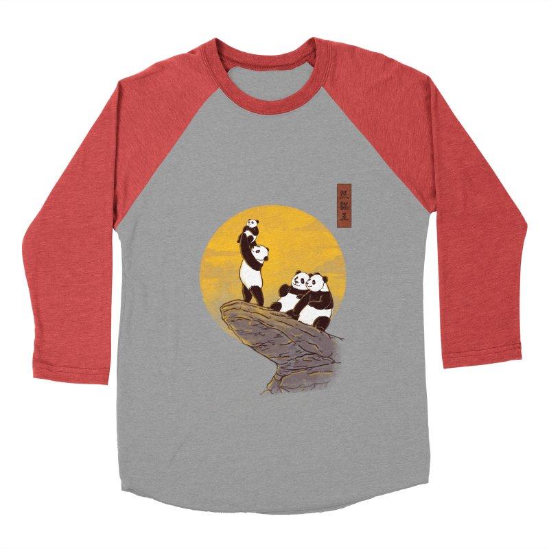 The Panda King Men's Baseball Triblend T-Shirt by xiaobaosg