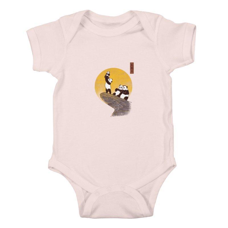The Panda King Kids Baby Bodysuit by xiaobaosg