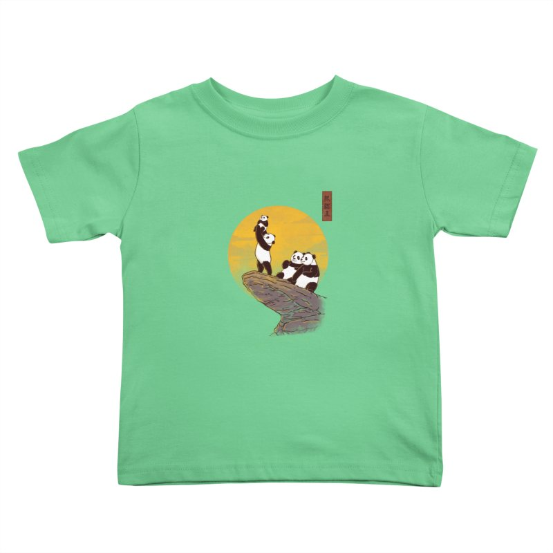 The Panda King Kids Toddler T-Shirt by xiaobaosg