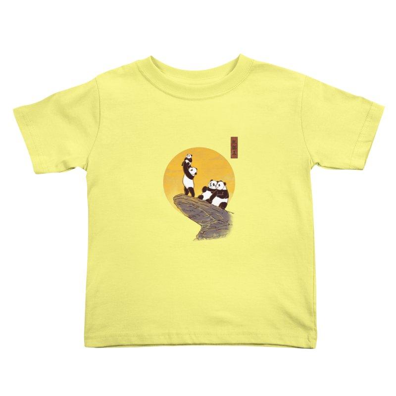 The Panda King Kids Toddler T-Shirt by xiaobaosg