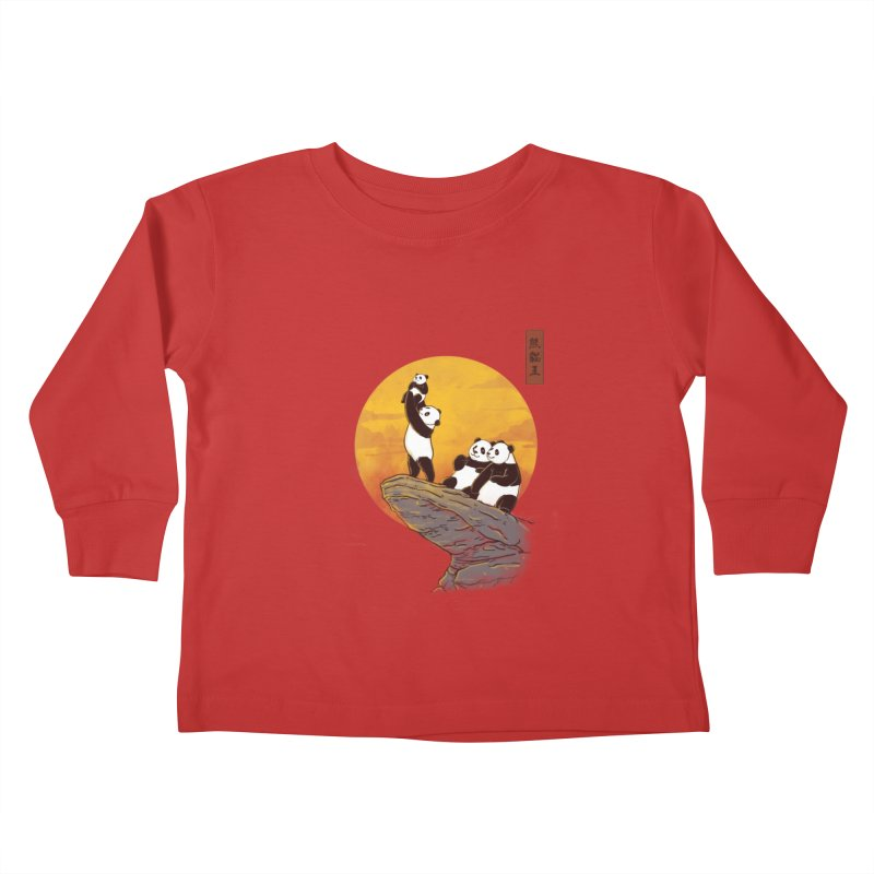 The Panda King Kids Toddler Longsleeve T-Shirt by xiaobaosg