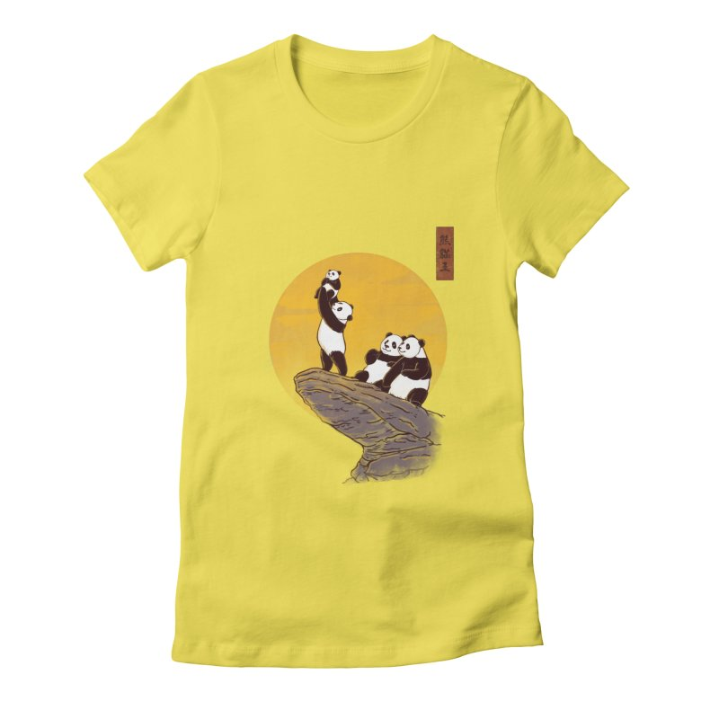 The Panda King Women's Fitted T-Shirt by xiaobaosg