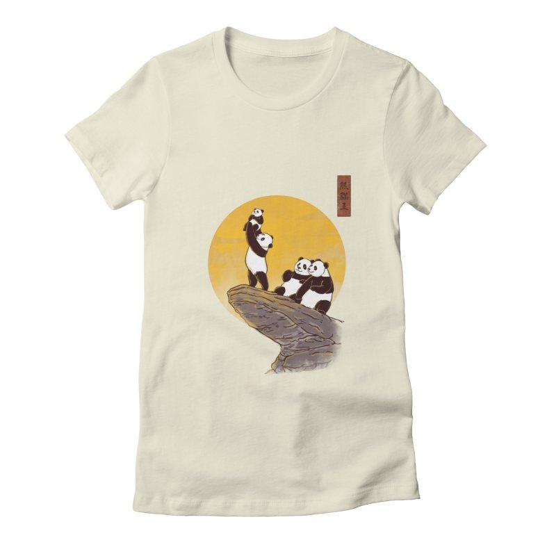 The Panda King Women's Fitted T-Shirt by xiaobaosg