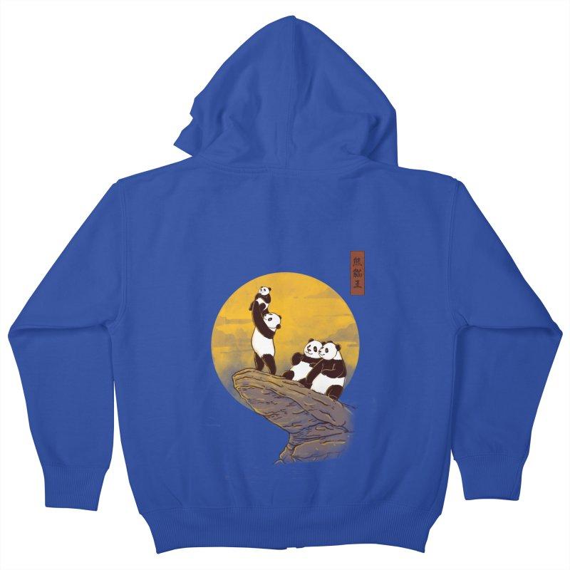 The Panda King Kids Zip-Up Hoody by xiaobaosg