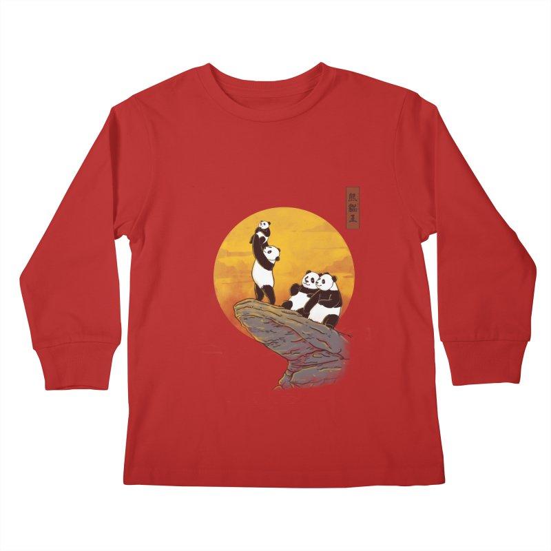 The Panda King Kids Longsleeve T-Shirt by xiaobaosg