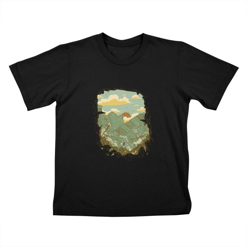A New Beginning Kids T-shirt by xiaobaosg