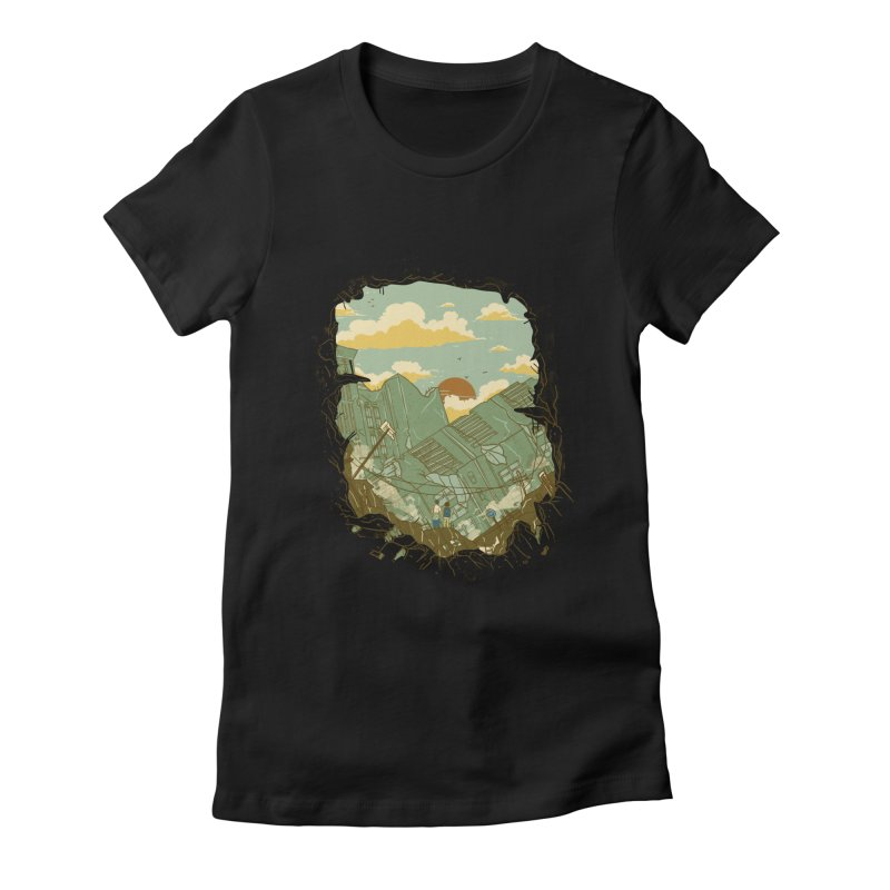 A New Beginning Women's Fitted T-Shirt by xiaobaosg