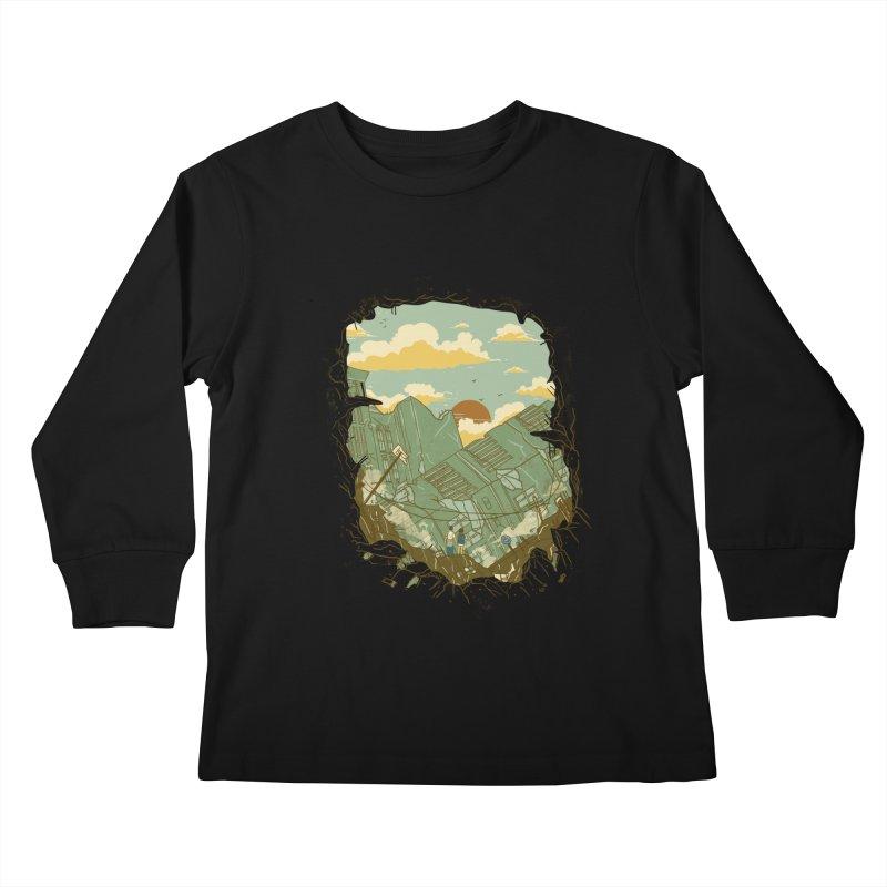 A New Beginning Kids Longsleeve T-Shirt by xiaobaosg
