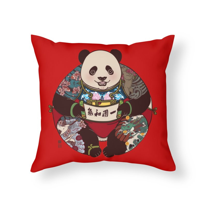 Circle of Harmony Home Throw Pillow by xiaobaosg