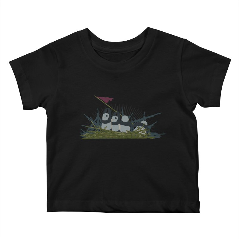 Flags of their fathers Kids Baby T-Shirt by xiaobaosg