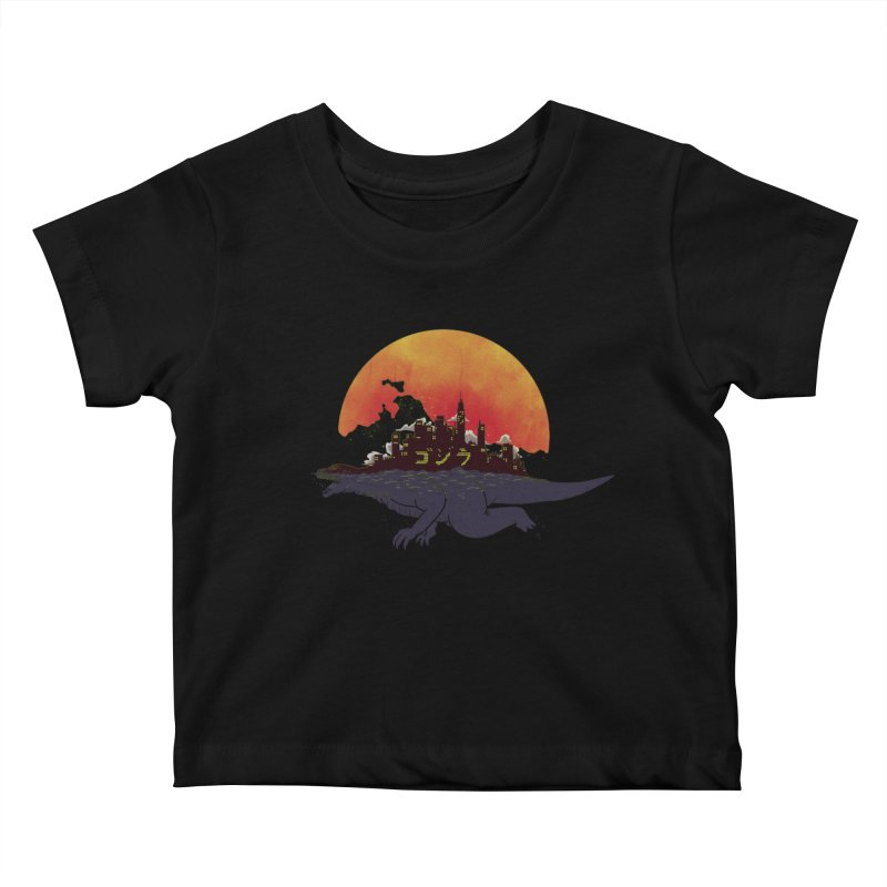 The City That Never Sleeps Kids Baby T-Shirt by xiaobaosg