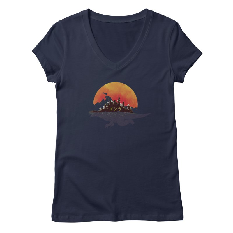 The City That Never Sleeps Women's V-Neck by xiaobaosg