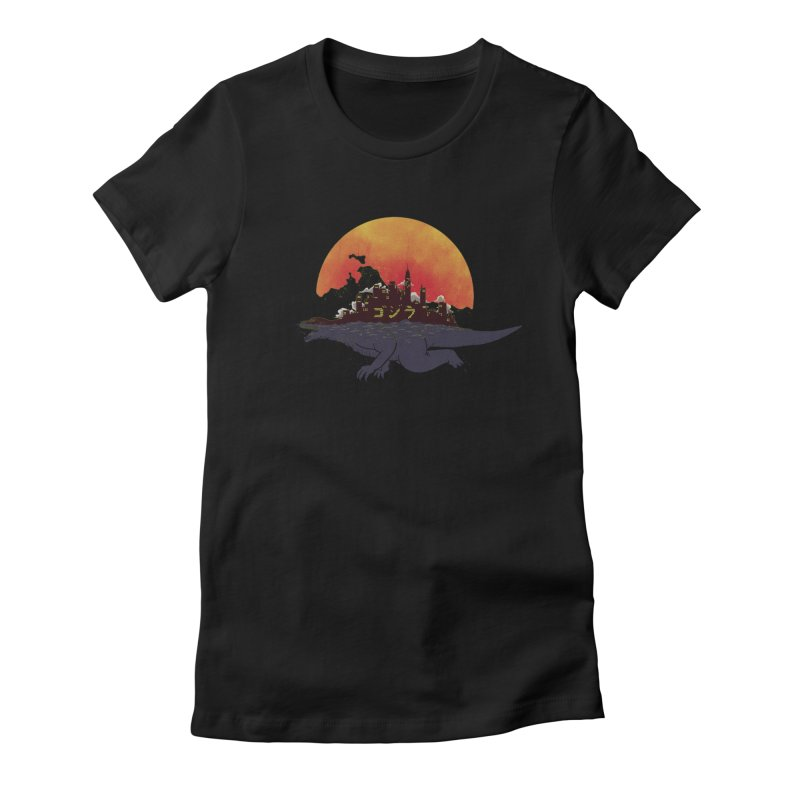 The City That Never Sleeps Women's Fitted T-Shirt by xiaobaosg