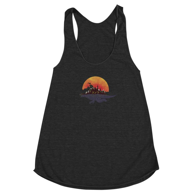 The City That Never Sleeps Women's Racerback Triblend Tank by xiaobaosg