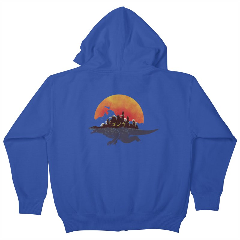 The City That Never Sleeps Kids Zip-Up Hoody by xiaobaosg