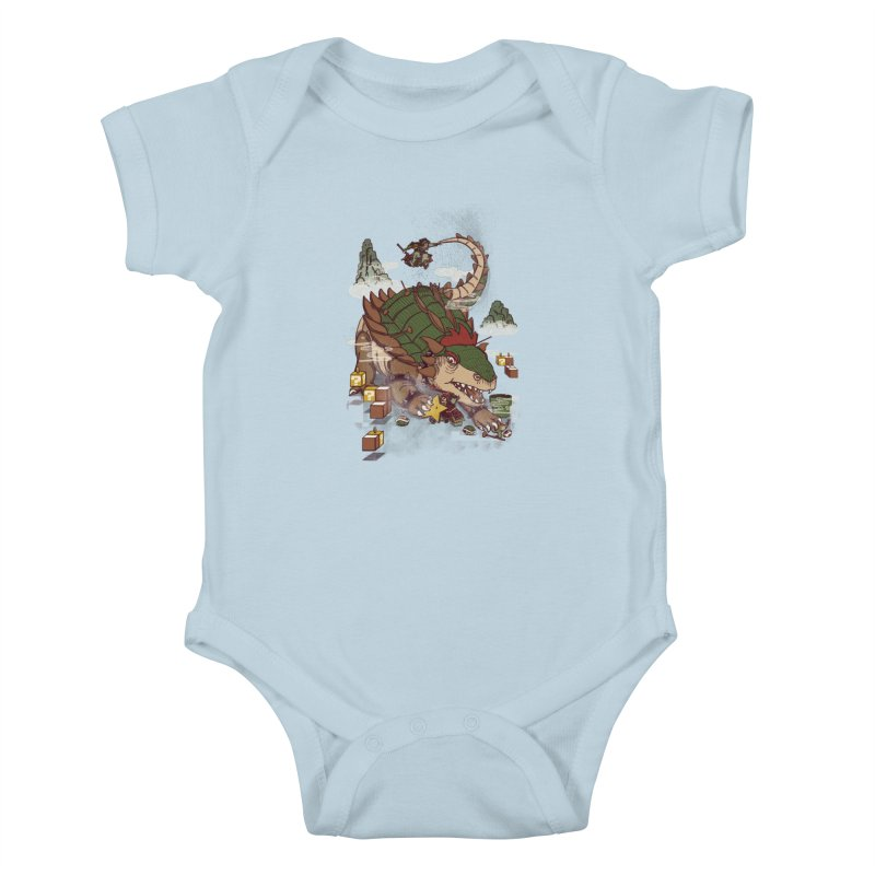 Monster Dogma Kids Baby Bodysuit by xiaobaosg